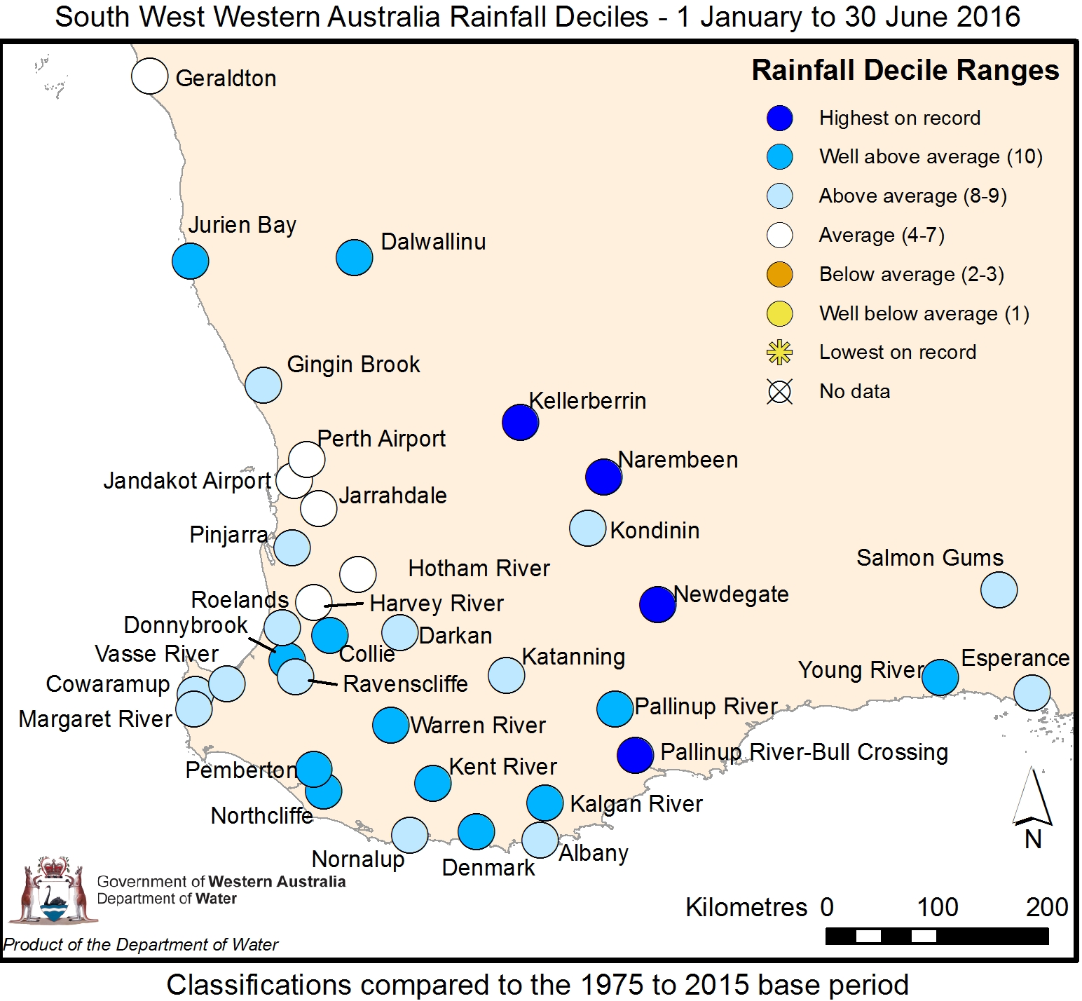 Year to date rainfall
