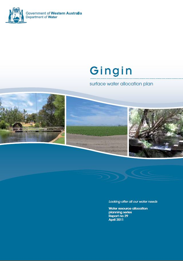 Gingin surface water plan cover