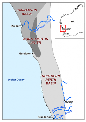 Northern Perth Basin Area Map
