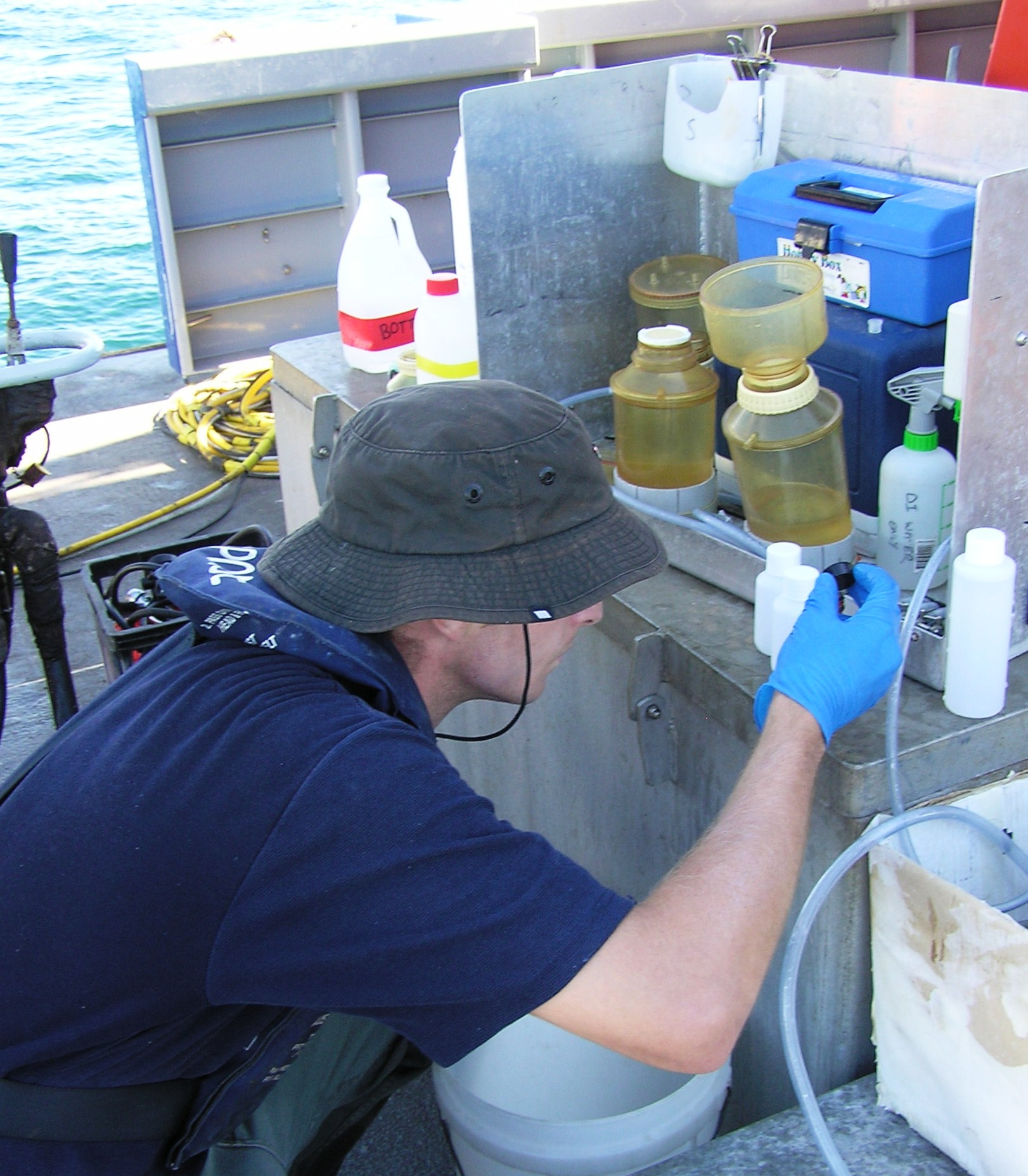 Prepararing water quality samples onsite