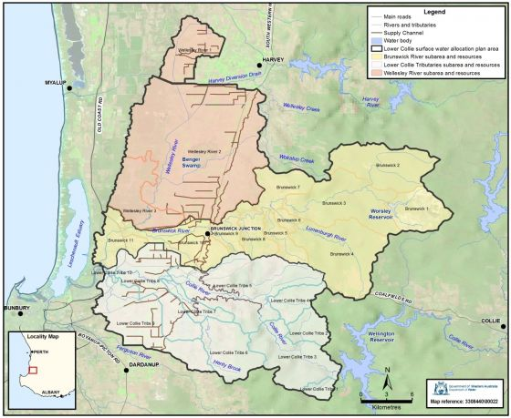 Lower Collie surface water plan area