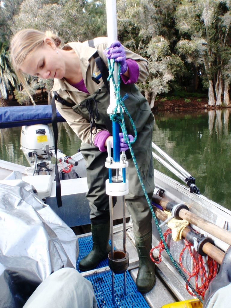 Sediment sampling in the Narrows Lakes