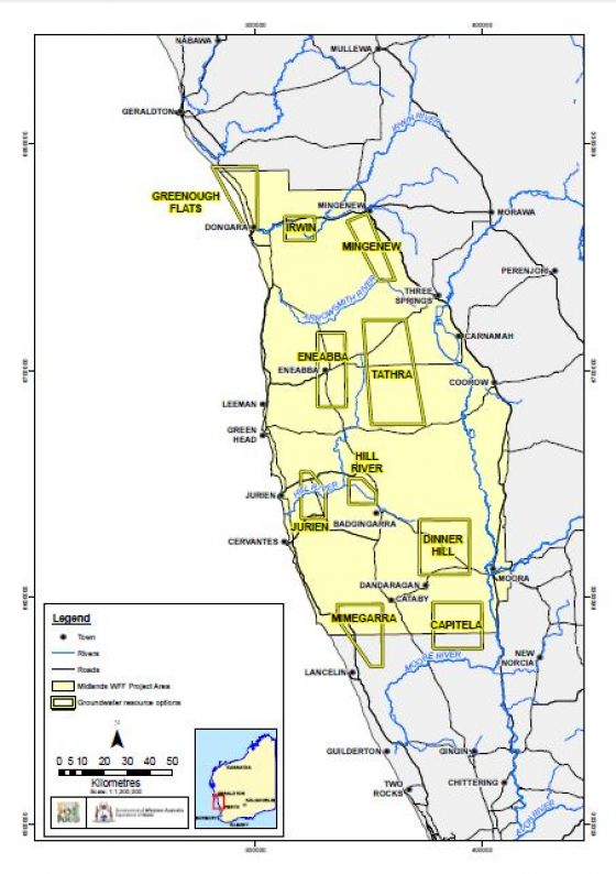 Prospective groundwater resource